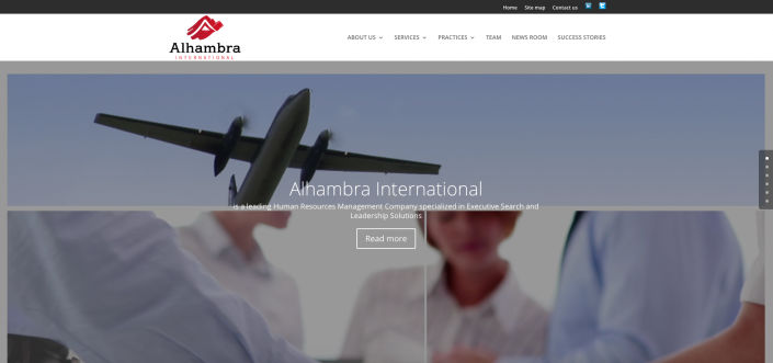 site vitrine entreprise Alhambra International